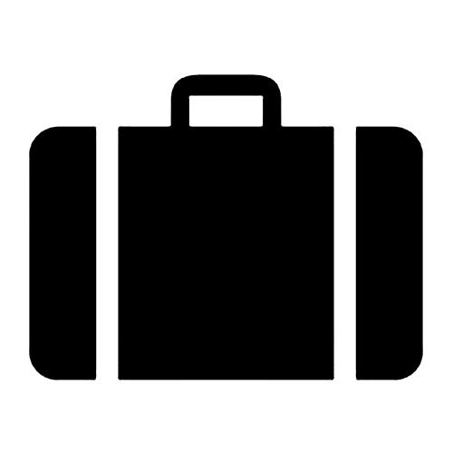 Koffershow im Treppenhaus
