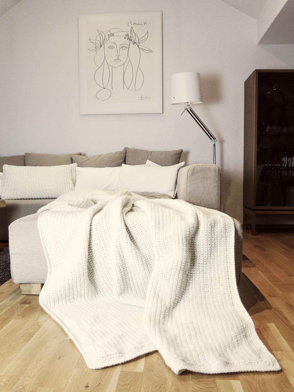 DIY | riesige Häkeldecke für die Couch - mxliving