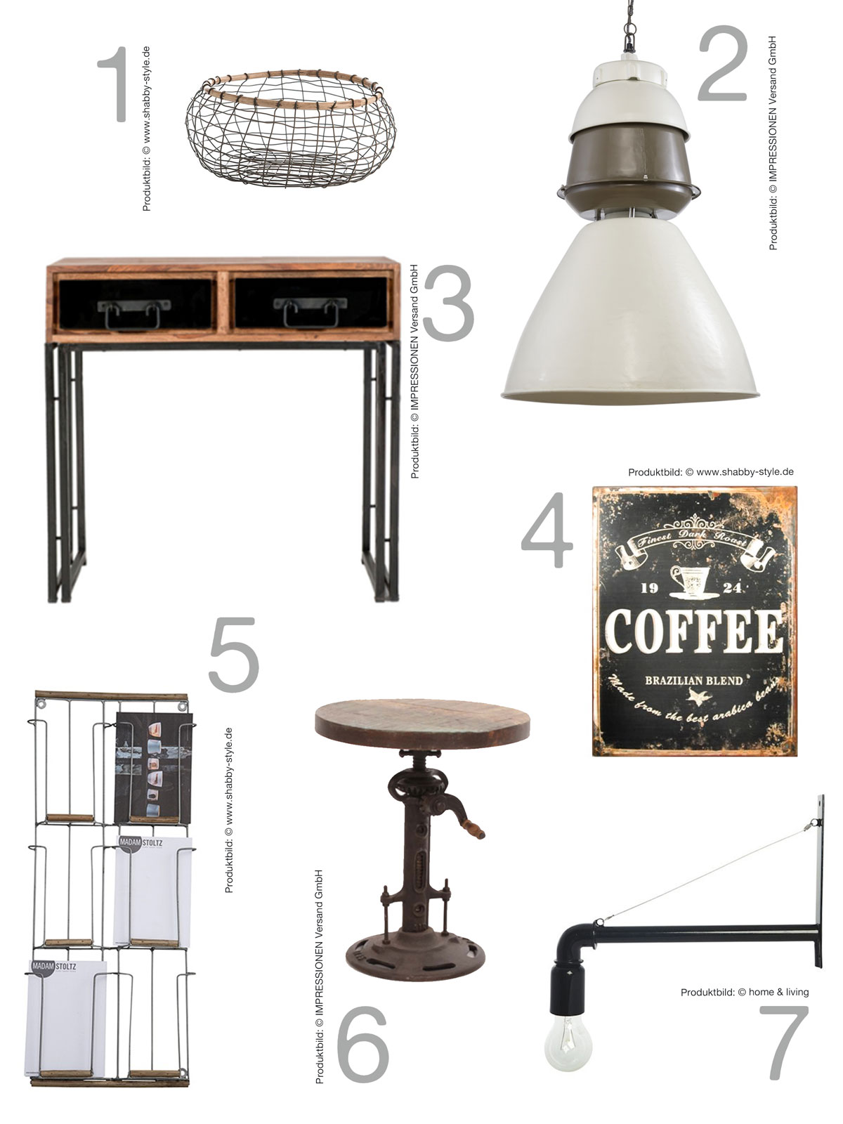shopping industrial look mxliving. Black Bedroom Furniture Sets. Home Design Ideas