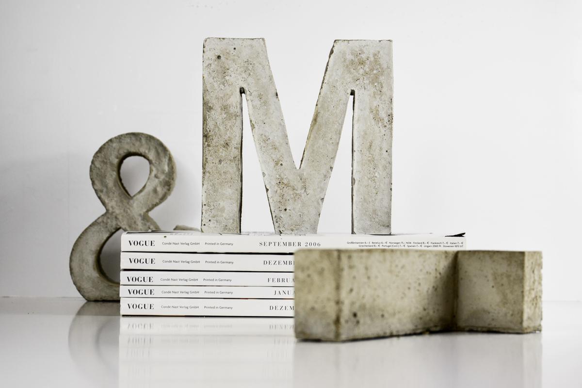 beton-buchstabe-m
