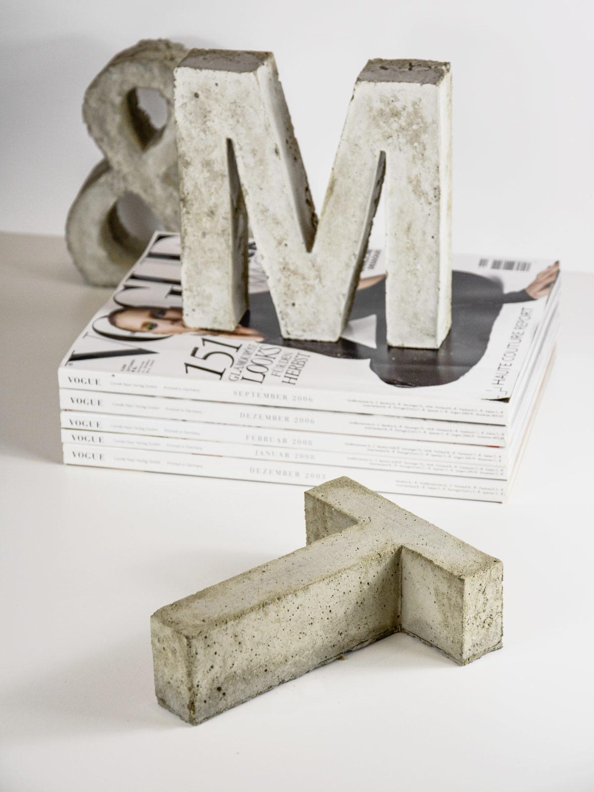 beton-buchstabe-t