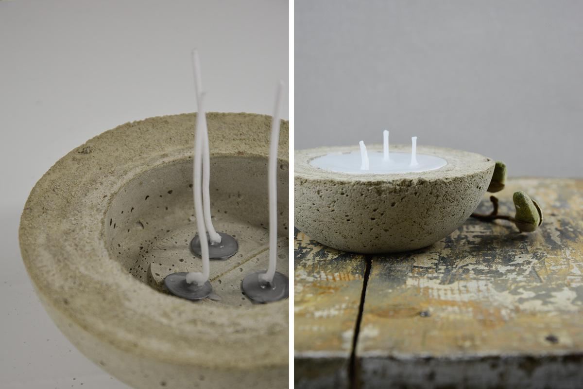 diy | kerzen selber machen mit beton und wachs – mxliving, Best garten ideen