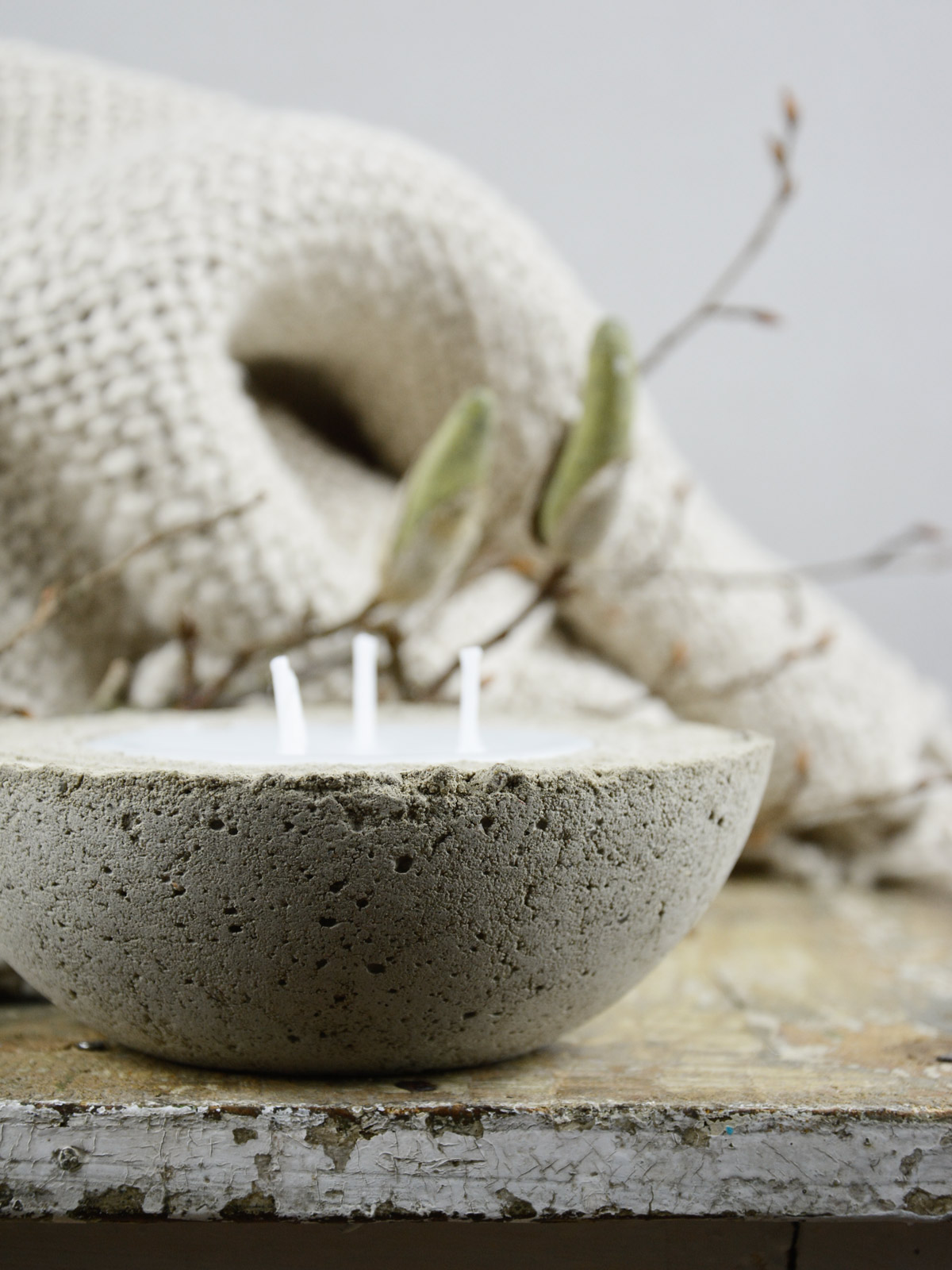 diy | kerzen selber machen mit beton und wachs – mxliving, Garten ideen