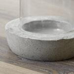 diy windlicht aus beton und glas mxliving. Black Bedroom Furniture Sets. Home Design Ideas