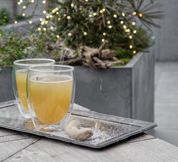 Garten | Weihnachtsdekoration für draußen und leckerer Birnenpunsch*