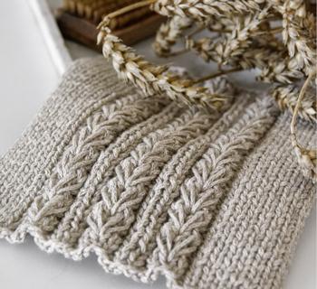 DIY | Spültücher mit Weizenmuster inkl. Anleitung