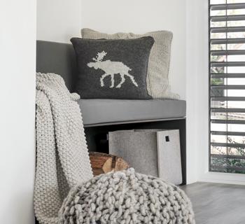 DIY | Kissenhülle mit Elchmotiv