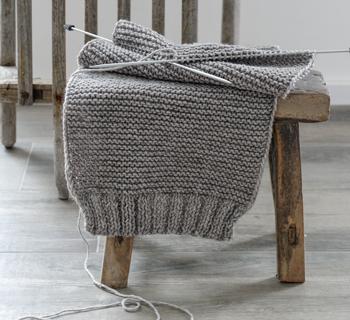 DIY | selbst gestrickter Schal als Weihnachtsgeschenk