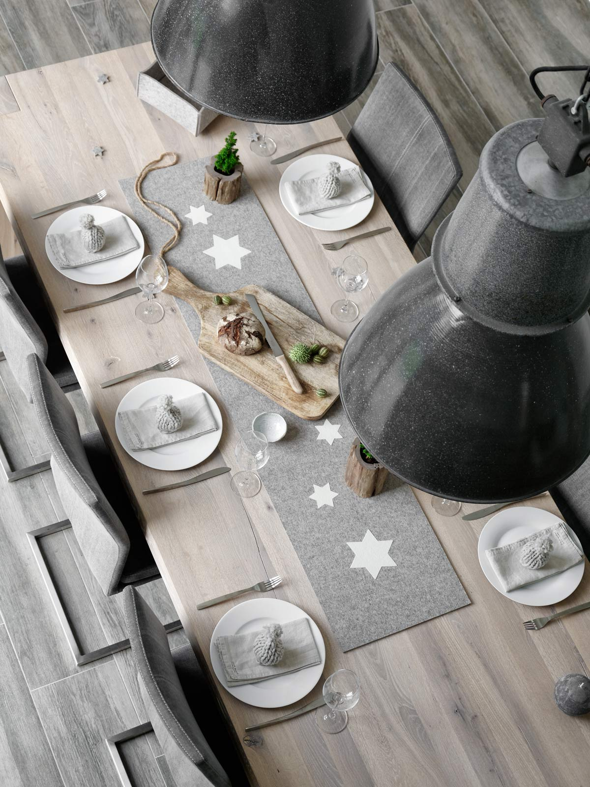 weihnachtliche tischdeko für den Adventsbrunch