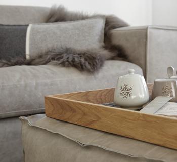 Dekoration   die neue Lounge im Alpenlook