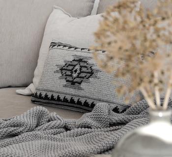 DIY | Kissenhülle im Ethnomuster aus Wollresten