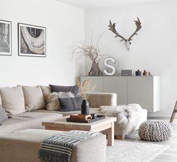 DEKORATION | Wandschrank im Wohnzimmer