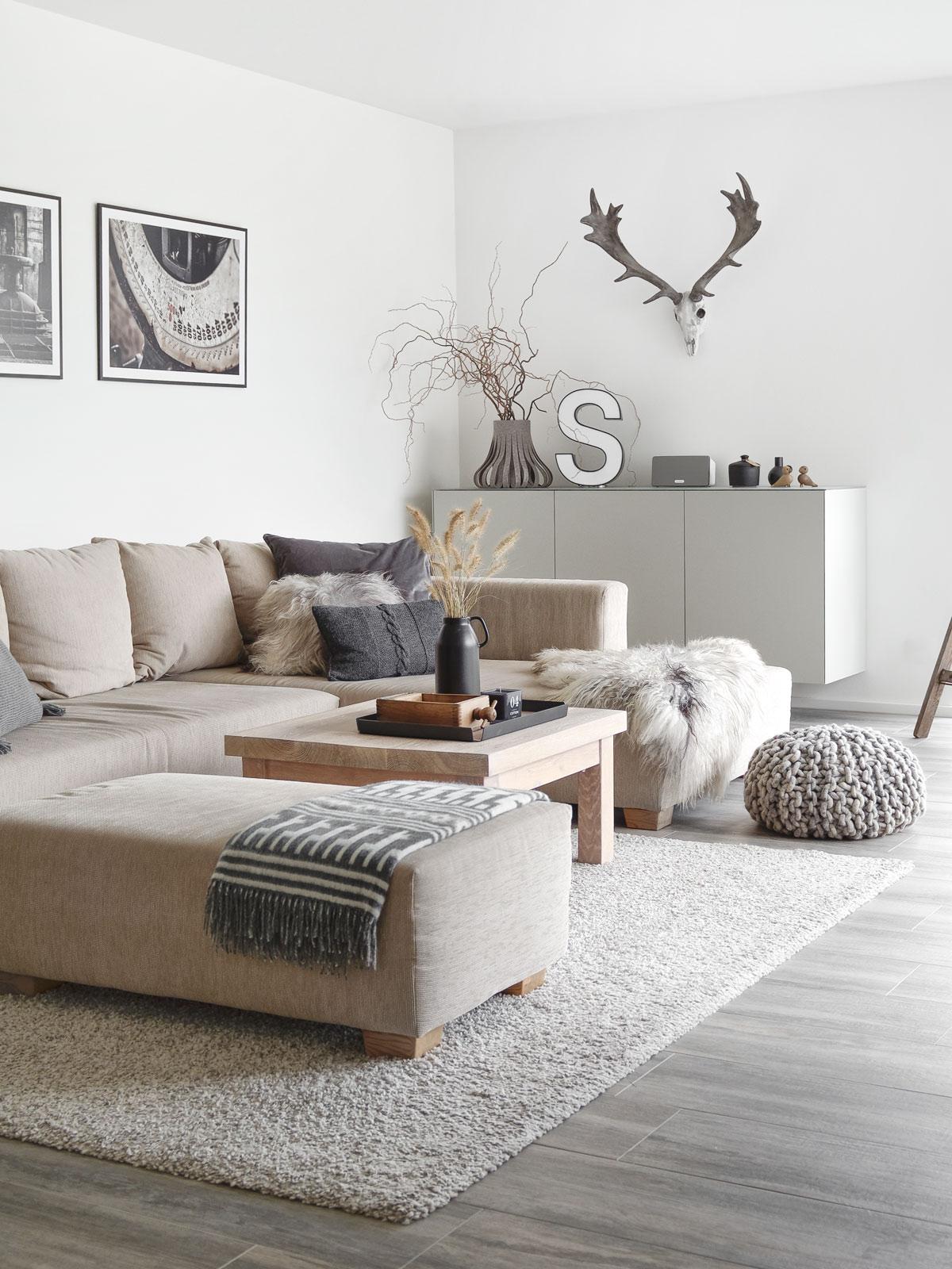 dekoration wandschrank im wohnzimmer